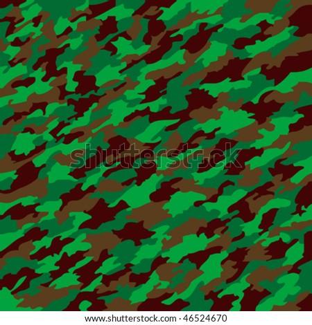 camouflage texture, abstract texture; art illustration - stock vector