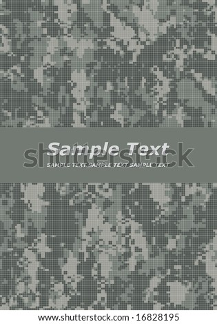 camouflage title page - stock vector