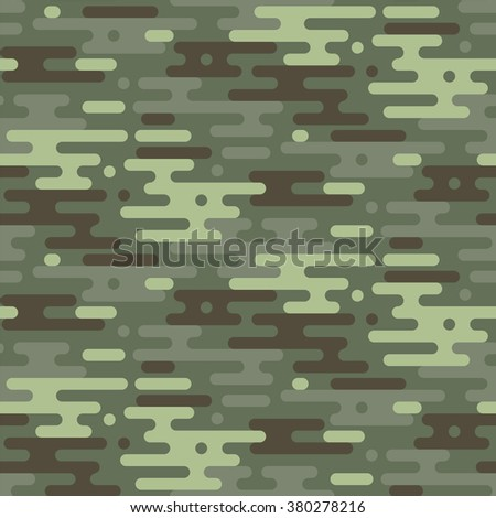 Camouflage vector seamless pattern. Abstract geometric background seamless camouflage. Woodland style. Vector illustration. - stock vector