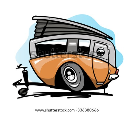 Camp trailer - stock vector