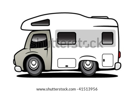 Camper - stock vector