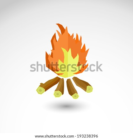 campfire vector illustration isolated background - stock vector