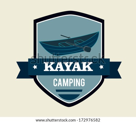 camping design over beige  background vector illustration   - stock vector