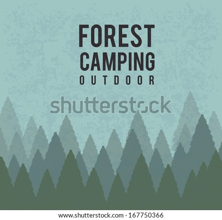 camping design over blue background vector illustration  - stock vector