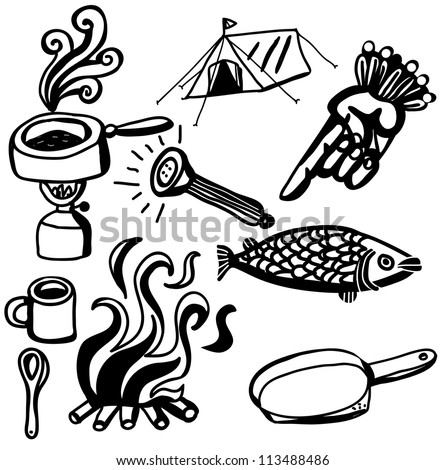 Camping Pot Stock Images Royalty Free Vectors