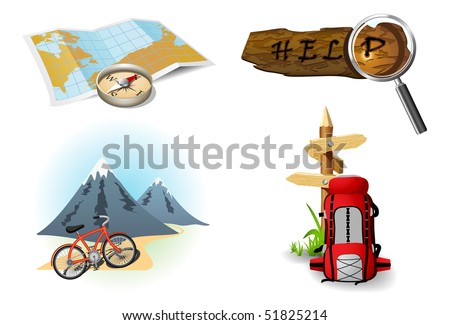 Camping icons 1 - stock vector