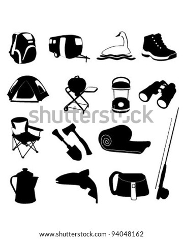 Camping Icons Set     vector is eps10 - stock vector