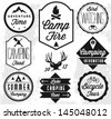 Camping Vector badges and labels in Retro style - stock vector