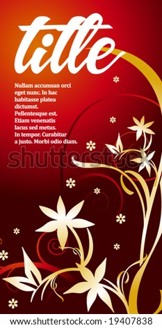 Can be used as a poster or an invitation card. Just place your own texts and titles. - stock vector