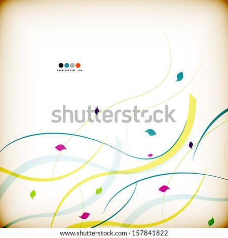 Can be used as nature, seasonal, business, eco abstract background. Fall / autumn floral design - stock vector