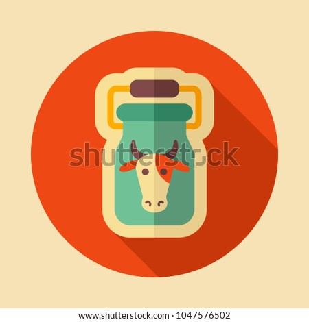 Can Container Milk Icon Farm Animal Stock Vector Hd Royalty Free