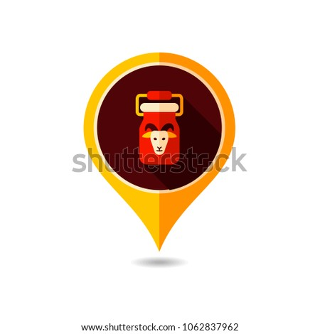 Can Container Milk Pin Map Icon Stock Vector 2018 1062837962