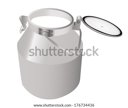 can of milk on a white background
