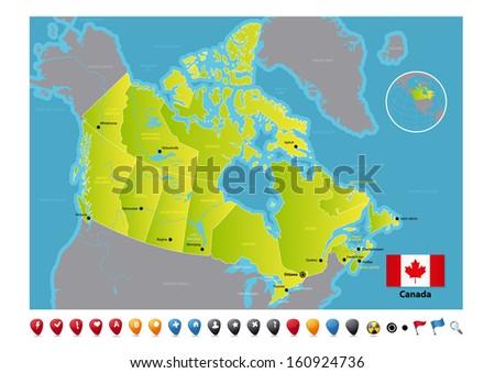 Canada - stock vector