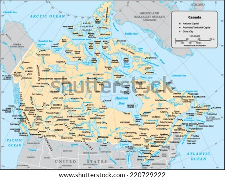 Canada Country Map