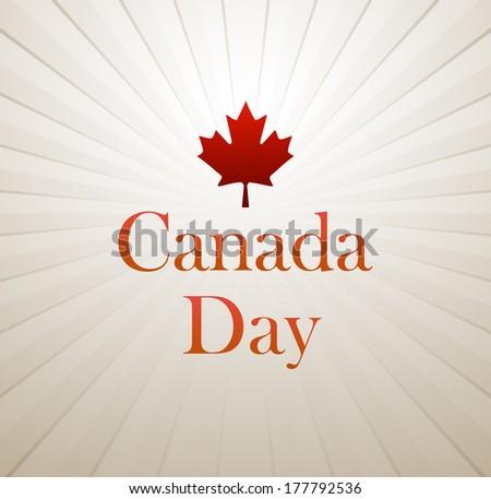 Canada Day vector background - stock vector
