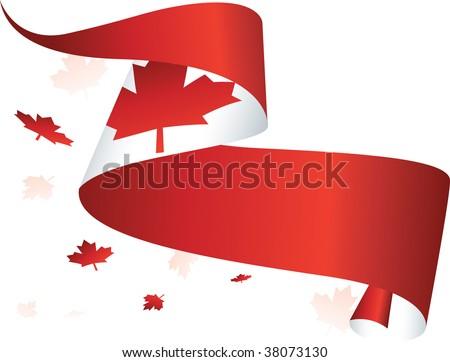 Canada Flag Background - stock vector