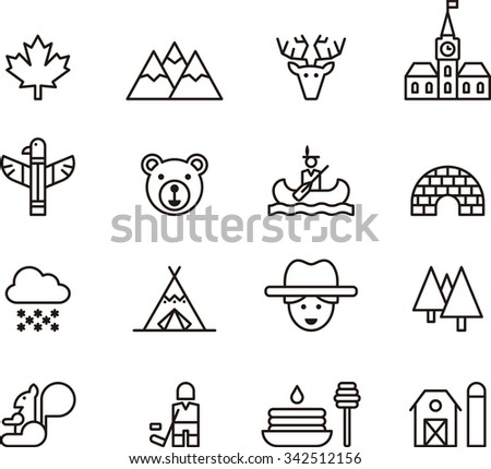 Canada icons - stock vector