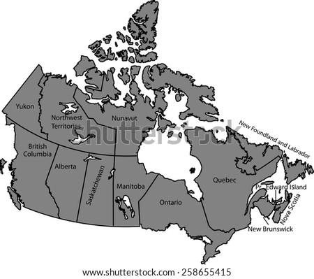 Canada map stock photo photo vector illustration 258655415 canada map gumiabroncs Choice Image