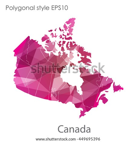 Colored Map Usa Canada Mexico States Stock Vector - Us canada map vector
