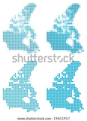 Canada map mosaic set. Isolated on white background. - stock vector