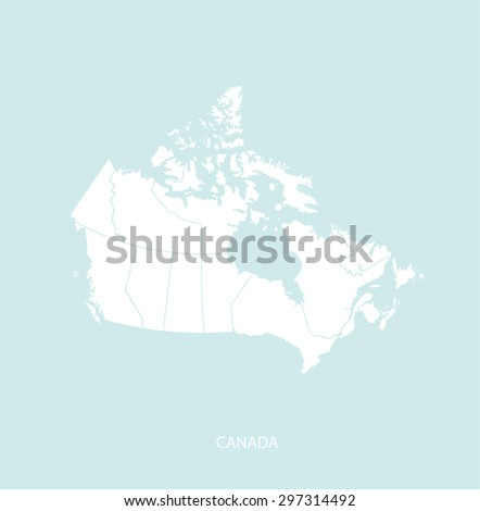 Canada map vector in a faded background, Canada map outlines for publication, science, and web-page template uses  - stock vector