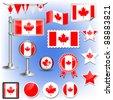canadian flag vector - stock vector