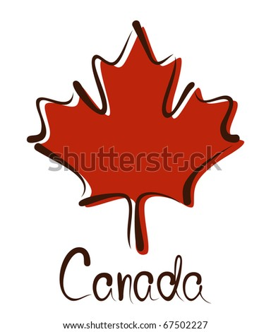 canadian maple leave - stock vector