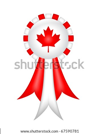 Canadian Ribbon (with gradient mesh) - stock vector