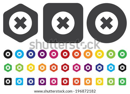 cancel icon - stock vector