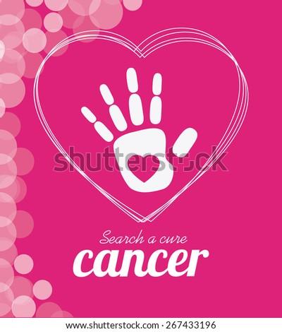 Cancer design over pink background, vector illustration. - stock vector