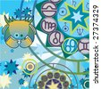 cancer - water zodiac sign - stock vector