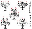 Candelabra. Illustration vector. - stock vector