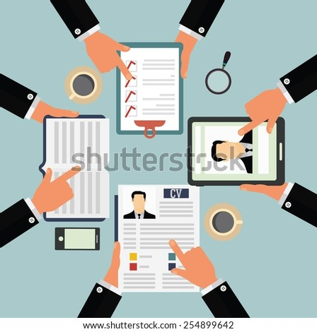 Candidate selection concept - stock vector