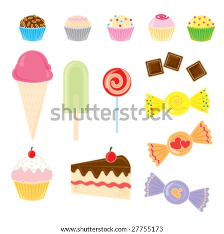 Candies Collection - stock vector