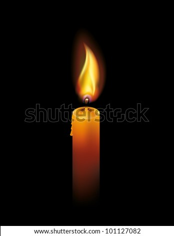 candle - stock vector