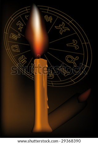 candle and zodiac signs