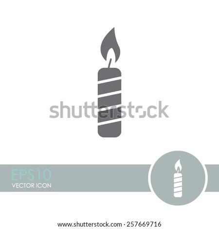 Candle vector icon. - stock vector