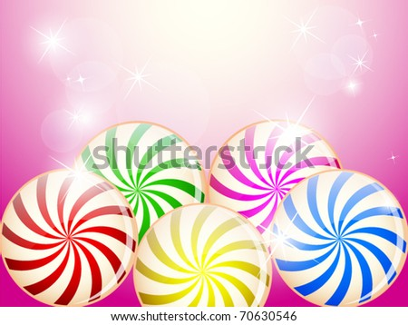Candy background - stock vector