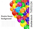 Candy background, Editable Illustration. - stock vector