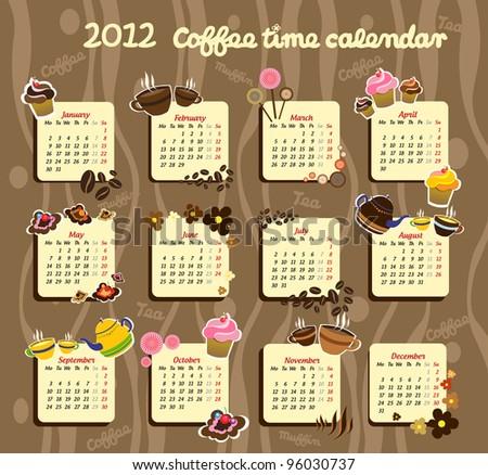 Candy calendar - stock vector