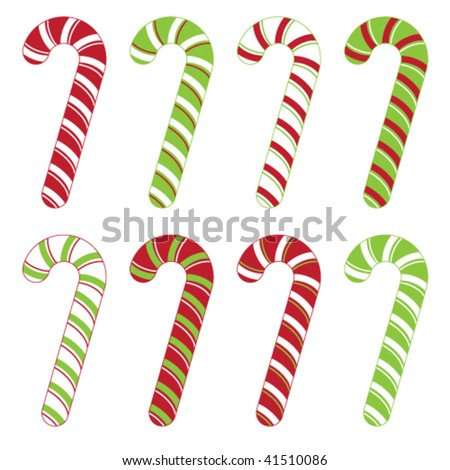 candy cane - stock vector
