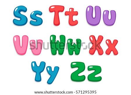 Candy Color Kid Font Part 3