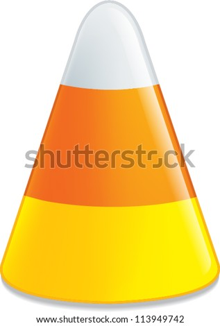 candy corn - stock vector