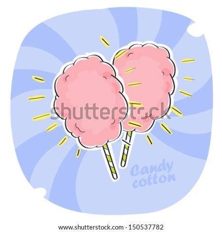 candy cotton - stock vector