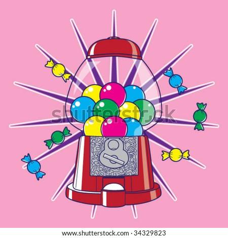 Candy Dispenser - stock vector