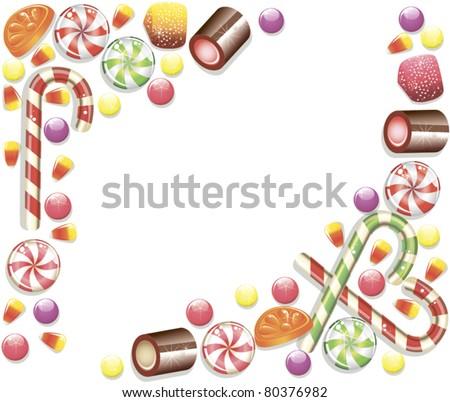 Candy Frame - stock vector