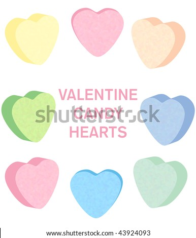 Candy heart set vector - stock vector