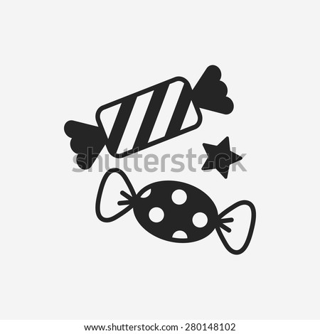 candy icon - stock vector