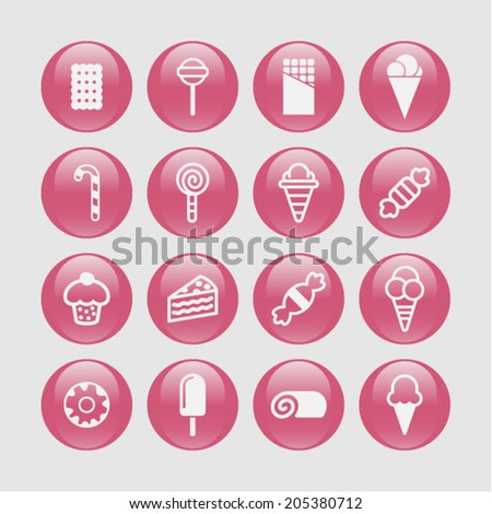 Candy icons - stock vector
